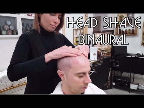 💈 Barber Girl - Relaxing Head Shave with Massage - BINAURAL ASMR no talking