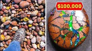أشخاص محظوظين وجدوا أشياء تساوي ثروة هائلة