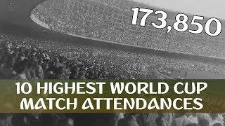 10 Highest FIFA World Cup Match Attendances