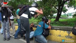 ¡Brutal! este es el resumen de la represión en Caracas por parte de la GNB