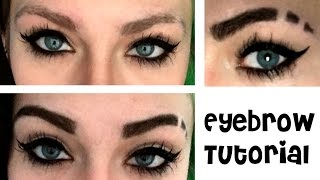 How I Do My Eyebrows (Shave & Draw On) | HeyThereImShannon