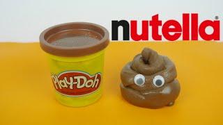 كيف نصنع صلصال نوتيلا للأكل نشاط مسلي - DIY Nutella Play dough