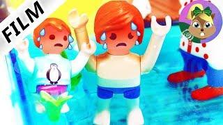 فيلم بلايموبيل! أيما وجوليان يحصلان على ضربة شمس في حمام السباحة!أسرة الطيور