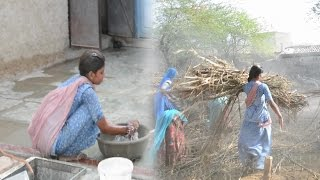 Gaon ki ladki.Indian Village Beautiful Girl working hard,लड़की.Bhinmal gav/gao ki ladki.Woman
