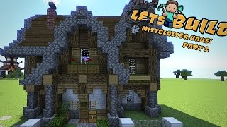 MITTELALTERLICHES HAUS Bauen Minecraft Tutorial PlayItHub - Minecraft cooles haus bauen anleitung