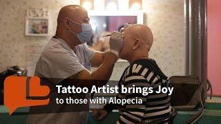 Tattoo Artist brings Joy to those with Alopecia