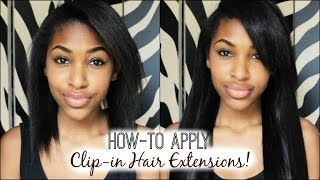 How-to Apply Clip-in Hair Extensions!