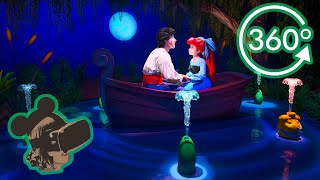 360º 4K Ride on Under The Sea Journey of the Little Mermaid with Full Queue