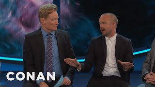 """Aaron Paul Is Afraid His Daughter's First Word Will Be """"Bitch""""  - CONAN on TBS"""