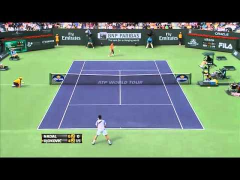 Novak Djokovic psuje pricljivog gledaoca Indian Wells 2011