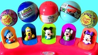 Disney Baby Mickey Mouse Clubhouse Pop-Up Pals Surprise Chupa Chups Collection Minnie Donald Goofy