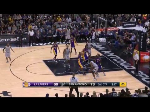 Kobe Bryant hits 3 straight threes (and 4-point play) vs San Antonio Spurs!