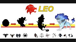 Leo - Pokemon Zodiac - Egg and Evolution ( Ver 1 ).