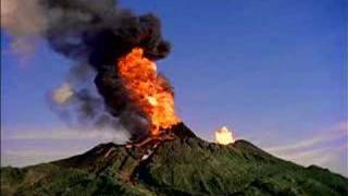 volcano erupting