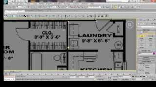 3ds Max House Modeling Tutorial: Interior Building Model Design Using Basic Plan