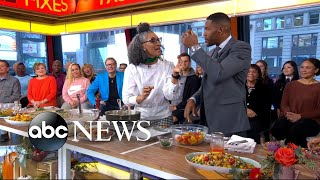 Carla Hall shares seasonal fall recipes live on 'GMA'