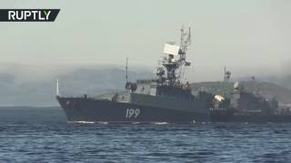 Navy Day is coming:  Admiral Kuznetsov & other vessels take part in parade rehearsal