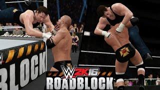 WWE 2K16 - Triple H vs. Dean Ambrose Highlights! (Roadblock 2016)