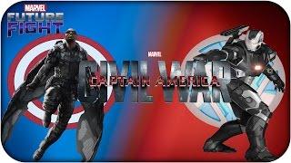 Marvel Future Fight; War Machine Vs Falcon (Road to Civil War) en Español