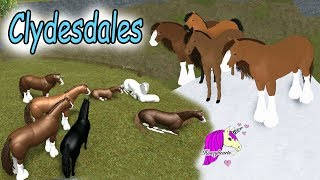 Clydesdale World - Lets Play Roblox Horse Heart Online Horses Game Play Video