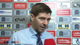 Brutal   Steven Gerrard's honest assessment following St. Johnstone vs Rangers