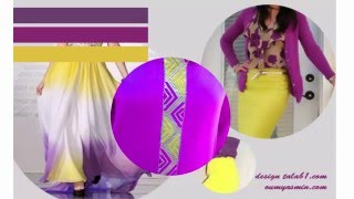 تنسيق اللون  في خياطة الرندة  randa La coordination des couleurs