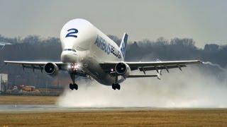 Airbus Beluga A300-600ST - Takeoff at Hamburg Finkenwerder! [HD]