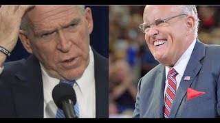 BRENNAN THREATENS TO SUE FOR HIS SECURITY CLEARANCE! GIULIANI LAUGHS AND MAKES HIM THINK TWICE!