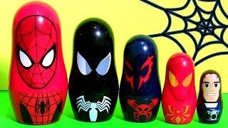 Homem Aranha Copinhos de Empilhar | Marvel Spiderman Stacking Cups Nesting Toys Surprise