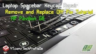How to Fix Laptop Spacebar Key  HP Notebook keyboard Tutorial