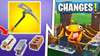 *ALL* Fortnite 6.3 Changes!   Food Fight Gameplay, Material Limit, Pickaxe Damage!