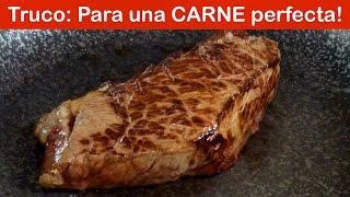 Truco para ASAR carne sobre la sartén