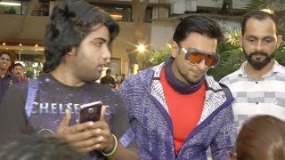 Ranveer Singh pushes a fan after a selfie session | Shocking Video