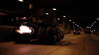 Batman the dark knight:  tumbler tunnel scene HD
