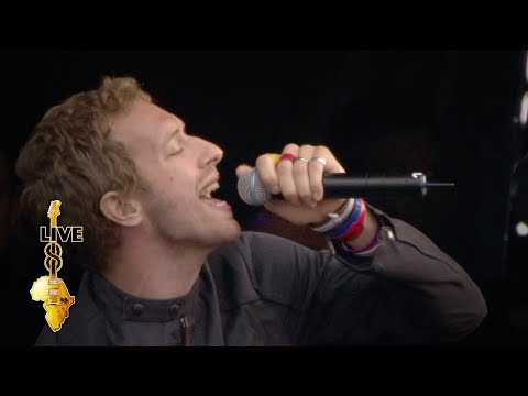 Coldplay - In My Place (Live 8 2005) Video Clip