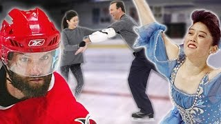 NHL Player Tries Olympic Figure Skating
