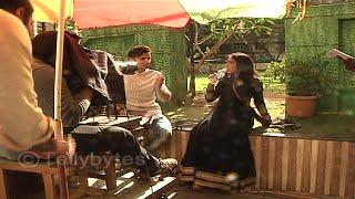 Sidhart Gupta and Niti Taylor shoots for Pyaar Tune Kya Kiya Behind the scenes