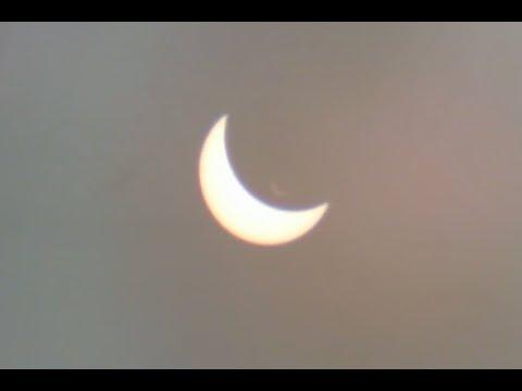 Partial solar eclipse from Binbrook, Ontario, Canada (21 Aug 2017)