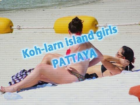 Koh-Larn island beach girls Pattaya