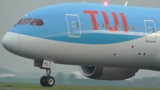 TUI Boeing 787-8 Dreamliner Take-Off Schiphol Airport