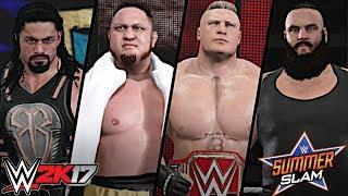 WWE SummerSlam 2017: Fatal 4-Way Universal Championship Match (Lesnar vs Reigns vs Strowman vs Joe)
