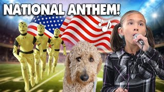 JILLIAN SINGS THE NATIONAL ANTHEM!!! Morning Routine, Crash Test Dummy &  Chloe Haircut