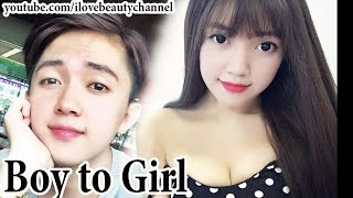 AMAZING BEST MAKEUP TRANSFORMATION BOY TO GIRL LOVELY ✔