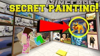 Minecraft: SECRET PAINTING!!! - The Puzzle Button - Custom Map