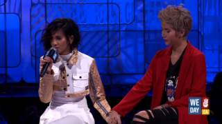 G.R.L. on dealing with the loss of Simone Battle (We Day California)
