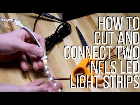 How To Cut And Connect Two nfls LED Light Strips - superbrightleds.com