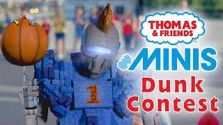 Basketball Dunk Contest with MINIS | Playing around with Thomas and Friends | Thomas & Friends