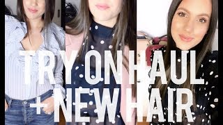 PRE-SPRING TRY-ON HAUL + NEW HAIR!! | MELSOLDERA