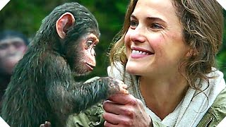 WAR FOR THE PLANET OF THE APES - Cute Baby Monkey Trailer (2017)