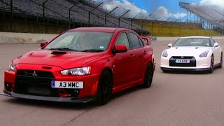 Nissan GTR vs Mitsubishi EVO FQ 400 - Fifth Gear